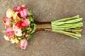 Picture red, flowers, Ranunculus, green, bouquet, pink, beautiful, colors, yellow