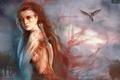 Picture Anne Pogoda, girl, dagger, art