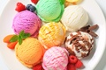 Picture balls, berries, raspberry, chocolate, blueberries, plate, ice cream, different, dessert, cuts