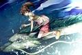 Picture Hayao Miyazaki, girl, dragon, Spirited away
