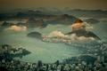 Picture sea, Brazil, megapolis, Rio de Janeiro, mountains, panorama, coast