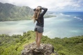 Picture panorama, girl, landscape