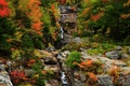 Picture autumn, forest, trees, mountains, nature, rocks, waterfall, colors, forest, Nature, trees, landscape, autumn, mountain, waterfall, ...