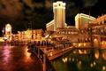 Picture burn, reflection, bridge, Las Vegas, las-vegas, Venice, venice, the city, the hotel, lights, hotel, water, ...