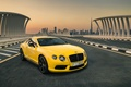 Picture Luxury, Car, Bentley, Yellow, Continental, Dudai
