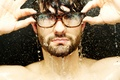 Picture wallpapers, guy, face, Wallpaper, water, pictures, glasses, photo, drops