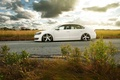 Picture clouds, Volkswagen, drives, side, Vossen, Wheels, Passat