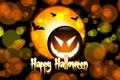 Picture pumpkin, the inscription, Halloween, halloween, bats, circles, happy Halloween