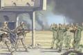 Picture weapons, war, soldiers, delivery, art, prisoner, soldiers, Iraqi, guns, Iraq, equipment, smoke, figure, U.S., fire