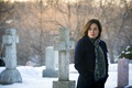 Picture look, crosses, actress, cemetery, Dr., the series, character, Hannibal, Hannibal, NBC, TV show, Alana Bloom, ...