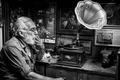 Picture Smoking, fixer, beard, music, photos, office, gramophone, Newspapers