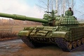 Picture T-62, figure, Soviet main battle tank, art