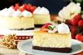 Picture cake, cream, strawberry