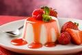 Picture fruit, strawberry, dessert, mint, cinnamon, berries, spices, Italy, sugar, Piedmont, gelatin, honey, taste, nate milk, ...