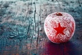 Picture New Year, holidays, winter, red, Apple, New Year, Christmas, Christmas, star, asterisk