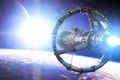 Picture orbit, ship, art, station, star, planet, space