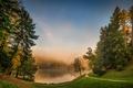 Picture Nature, Fog, Grass, Lake, Trees, Landscape, Croatia, Trakoscan