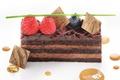 Picture berries, cake, raspberry, blueberries, cake, caramel