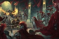 Picture weapons, battle, war, red cloaks, MAG, armor, castle