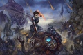 Picture Mass Effect 3, invasion, Reaper, salarian, husks, brute, banshee, cannibals