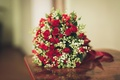 Picture beautiful, wedding, beautiful, lovely, roses, Roses, red, bouquet, Bouquets, red, wedding