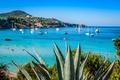 Picture yachts, sea, Ibiza, Spain, coast, beach