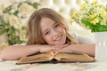 Picture Hair, Girl, Smile, Children, Book, Face, Rus