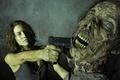 Picture The walking dead, Lauren Cohan, The Walking Dead, gun, Maggie, zombies