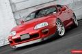 Picture Red, Toyota, Supra, Vossen, Wheels