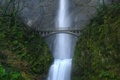 Picture waterfall, green, Bridge