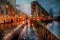 Picture autumn, girl, rain, umbrella, Peter, St Petersburg