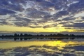 Picture clouds, water, reflection, Landscape