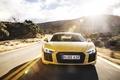 Picture road, machine, the sun, glare, Audi, the front, V10