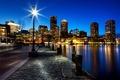 Picture Boston, megapolis, night, the city