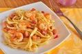 Picture fish, dill, plate, meat, plug, dish, shrimp, Spaghetti, noodles