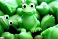 Picture toy, green, frog