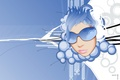 Picture glasses, blue, Face