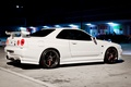 Picture Nissan Skyline, skyline, night, R34, tuning, GT-R, Nissan