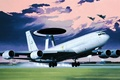 Picture painting, Boeing E-3 Sentry, airplane, aviation, art