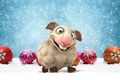 Picture balls, graphics, animal, holiday, snow, sheep, toys, new year, balls, symbol