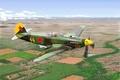 Picture yakovlev yak 3, aviation, ww2, painting, russian fighter, war, art