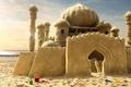 Picture sand, dreams, castle