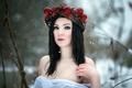 Picture portrait, girl, winter