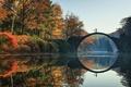 Picture Rakotz, bridge, Germany, Germany, Bridge, autumn, eastern, autumn