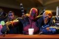 Picture fan art, Deathstroke, Deadpool