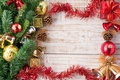 Picture decoration, New Year, Branches, Balls, Board, tinsel, bells, Bumps, Holidays, Template