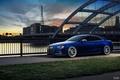 Picture bridge, blue, the city, Audi