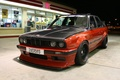 Picture red-black, night, the front, tuning, BMW, dressing