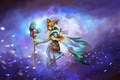 Picture snow, art, Crystal Maiden, MugenMcFugen, girl, staff, Dota 2, Rylai