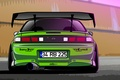 Picture Silvia, Nissan, 200SX, S14, Green, Drift Spec Vector, by Edcgraphic
